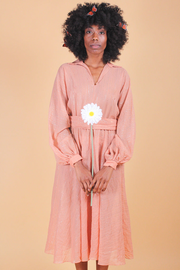 Vintage 1970's Blushin' Rose Dream Dress