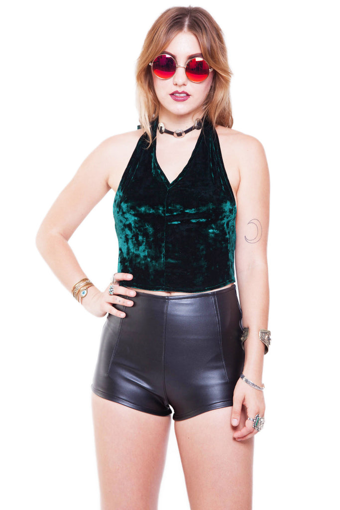 Emerald Druzy Halter Top