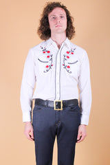 Vintage 1970's Sweetheart of the Rodeo Embroidered Shirt