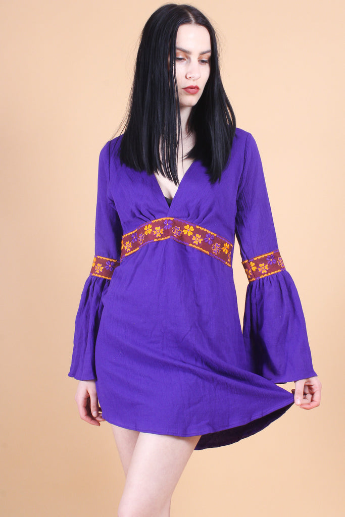 Anita Mini-Dress in Violet