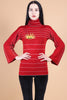 Vintage Red Rising Sun Sweater