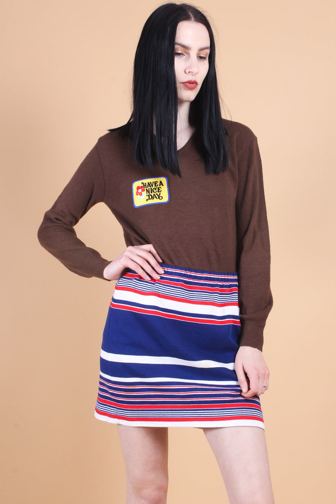 Vintage Have a Nice Day Chocolate Sweater