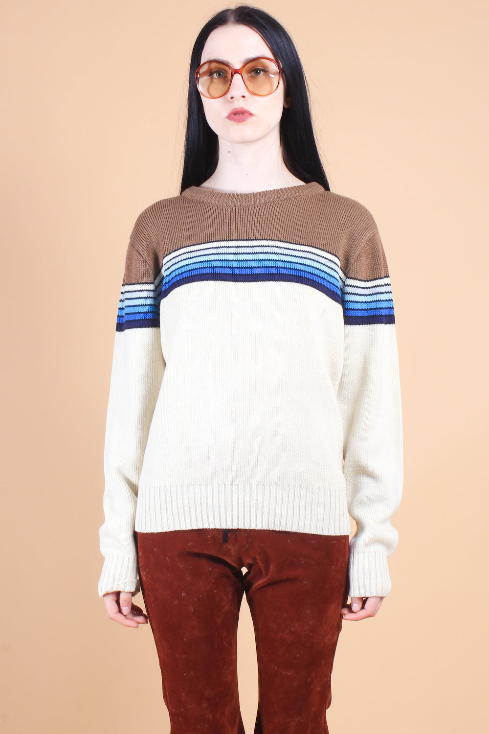 Vintage 1970's Cabin by the Sea Sweater