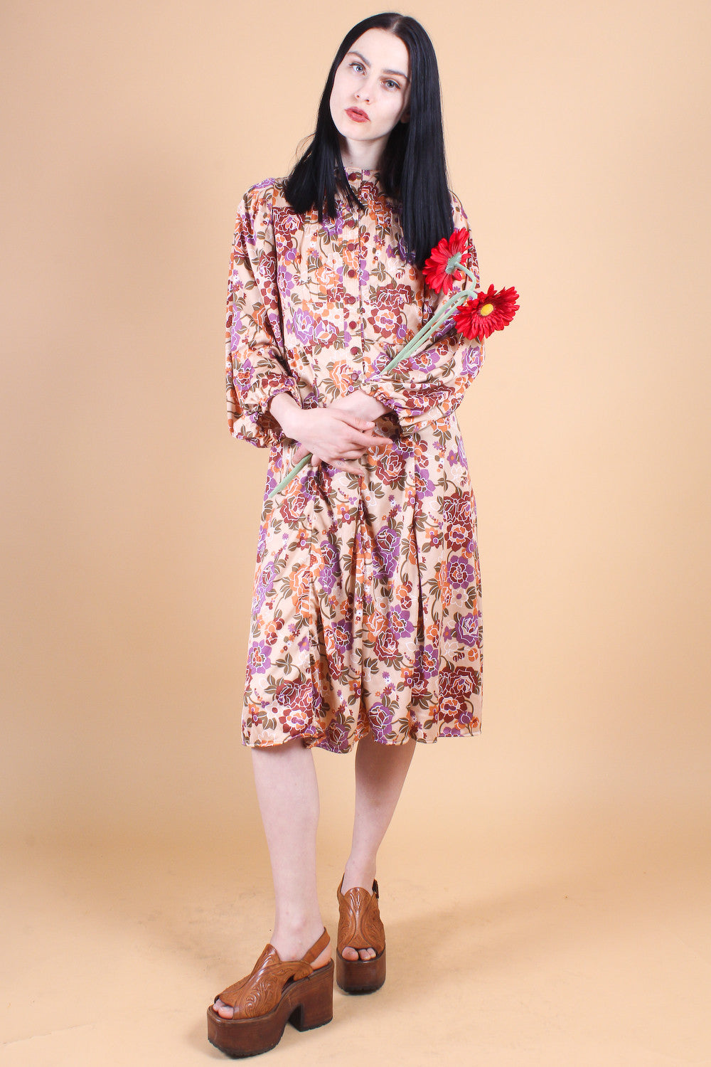 Vintage 1970's Darling Darlene Floral Dress