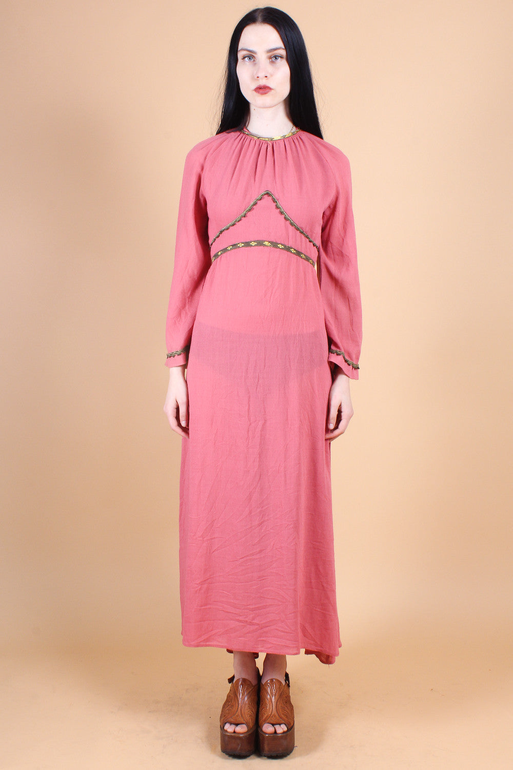 Vintage 1970's Noble Fiona Maxi Dress