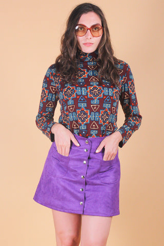 Pattie Boyd Belt in Grape