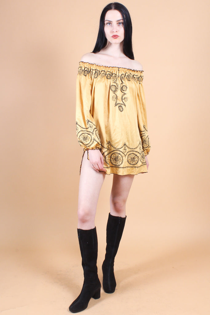 Vintage 1970's Voodoo Child Mini-Dress