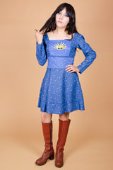 Vintage Rising Sun Celestial Dream Mini-Dress