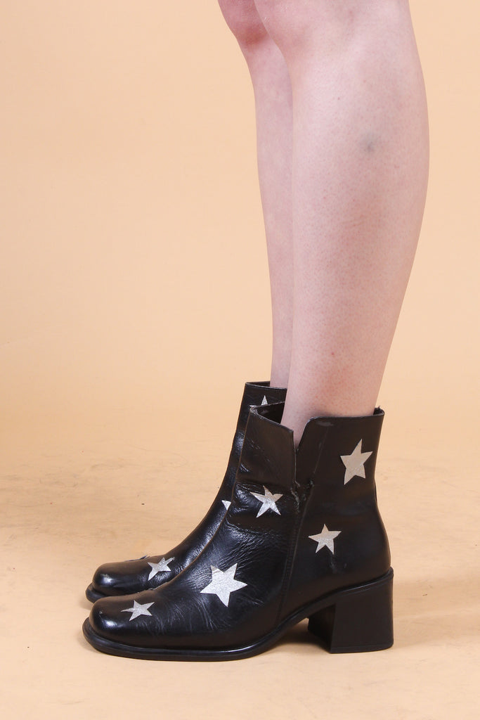 Stardust Leather Ankle Boots