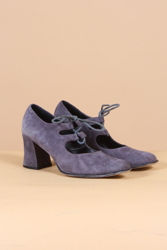 Vintage Grey Annabella Lace-Up Shoes