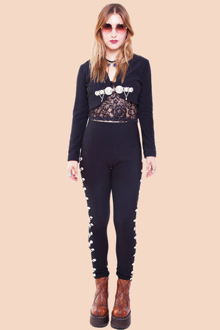 Spanish Threads Mariachi Embellished Pants