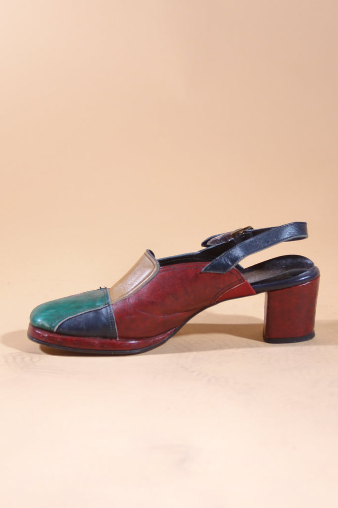 Vintage 60's She's A Rainbow Shoes