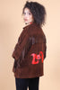 Vintage LOVE Hand-Painted Suede Fringe Jacket
