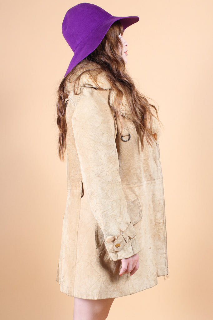 Vintage Travelin' Band Suede Fur Coat
