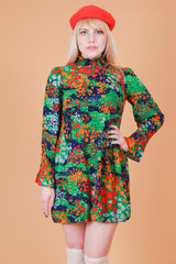 Vintage 1960's Flowers of the Cosmos Mini-Dress
