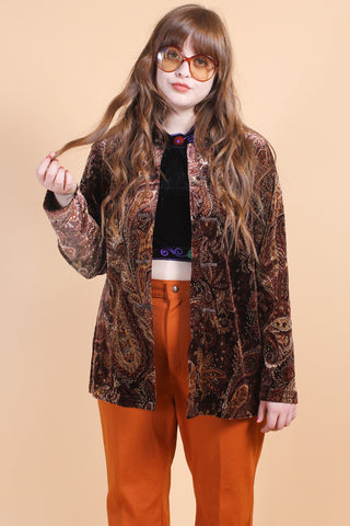 Vintage Butterfly Child Rust Sweater
