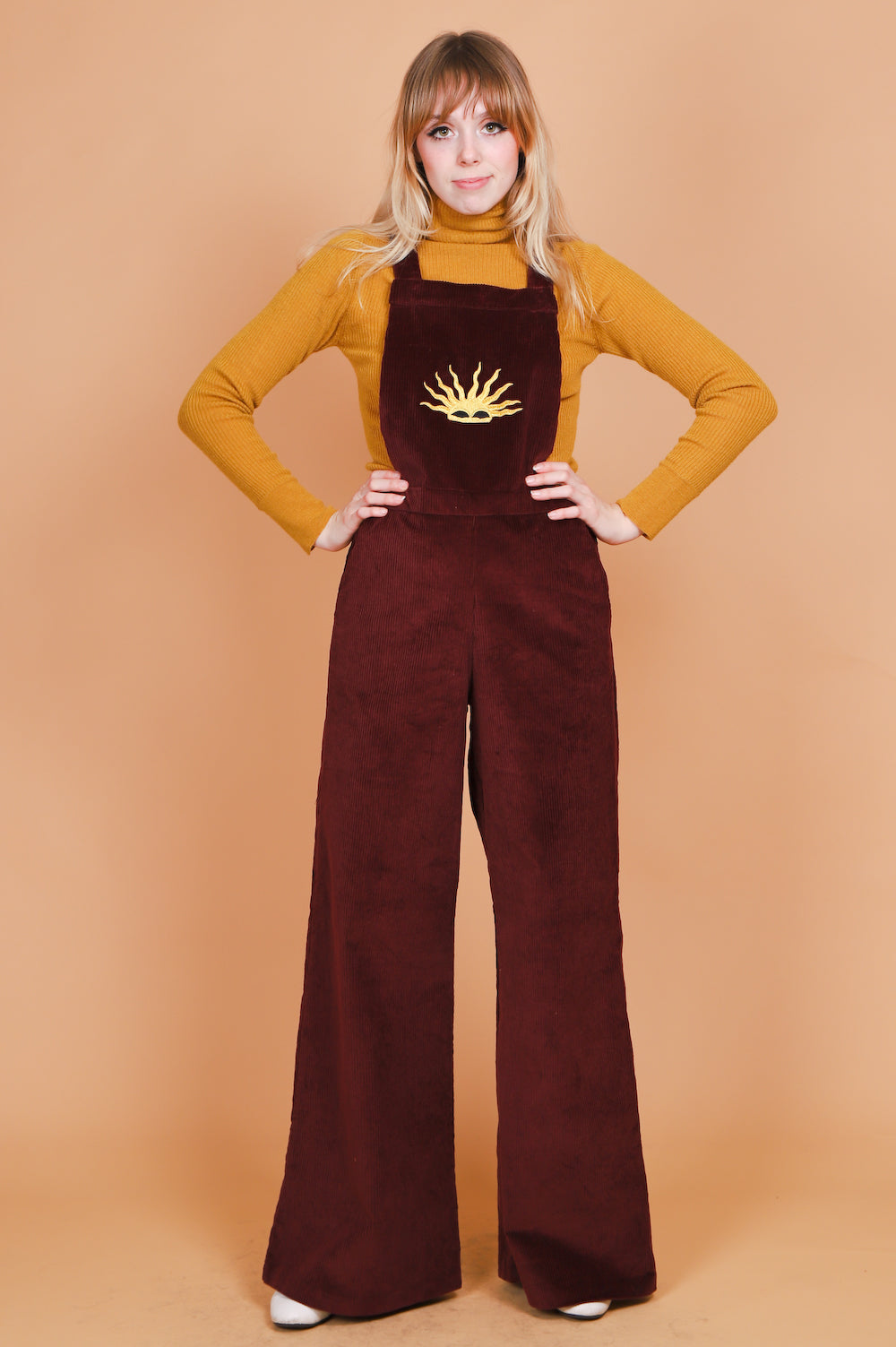 Vintage 1970's Rising Sun Corduroy Overalls