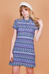 Vintage 1970's Georgy Girl Periwinkle Dress