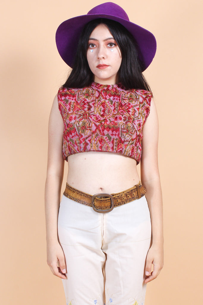 Vintage 1970's Folk Medley Top