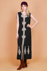 Vintage 1970's Indian Summer Maxi Dress