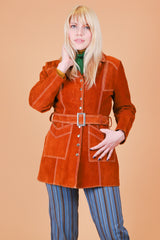 Vintage 1970's Love Child Suede Fur Coat