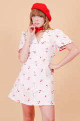 Vintage 1970's Cherry Pie Mini-Dress