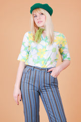 Vintage 1970's Flower Power Top