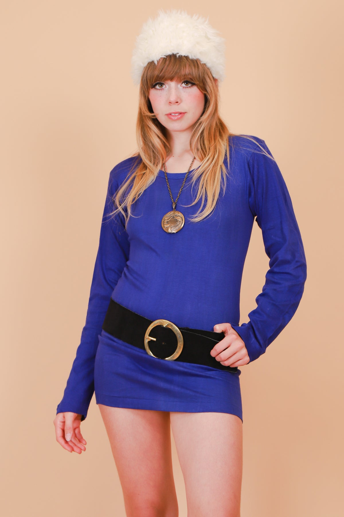 Vintage 1970's The Jane Indigo Mini-Dress