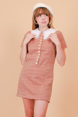Vintage 1960's Crimson Moon Mini-Dress