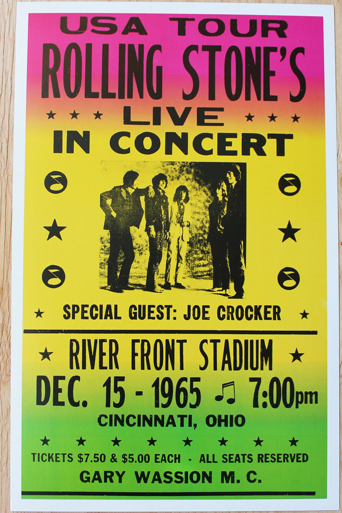 The Rolling Stones - River Front Stadium 1965 Poster