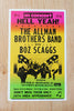 The Allman Brothers Band with Boz Scaggs - San Diego 1974 Poster