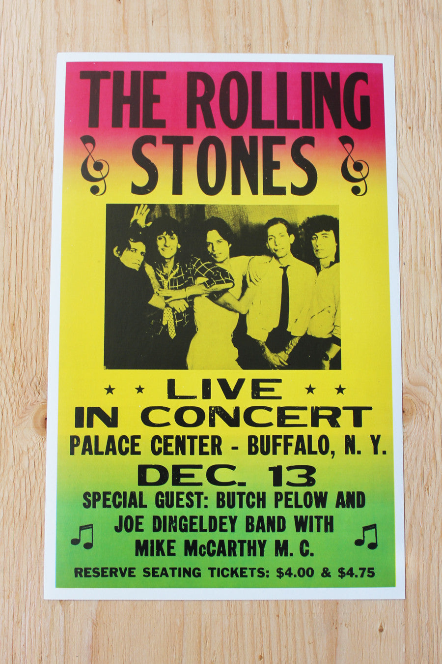 The Rolling Stones - Palace Center 1965 Poster