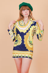 Vintage 1960's Lola Psychedelic Mini-Dress
