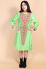 Vintage 1960's Baba O'Riley Embroidered Dress