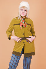 Vintage 1960's Olive Dream Velveteen Coat