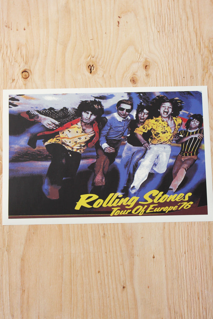 The Rolling Stones - Tour of Europe 1976 Poster