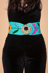 Pattie Boyd Belt in Teal