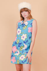 Vintage 1970's Shelley Floral Mini-Dress