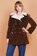 Vintage 1970's Cabin Essence Vegan Shearling Coat