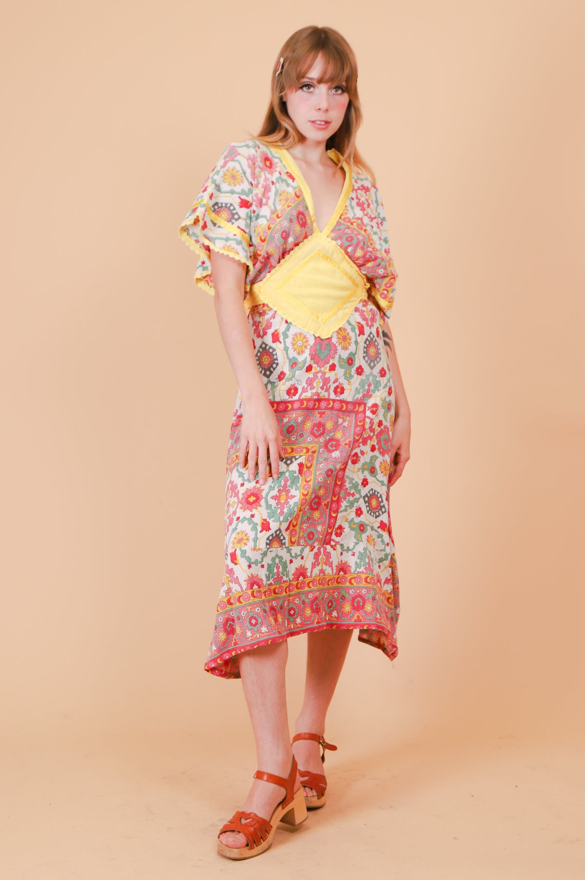 Vintage 1970's Indian Summer Dress