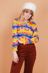 Vintage 1960's Electric Rainbow Psychedelic Top