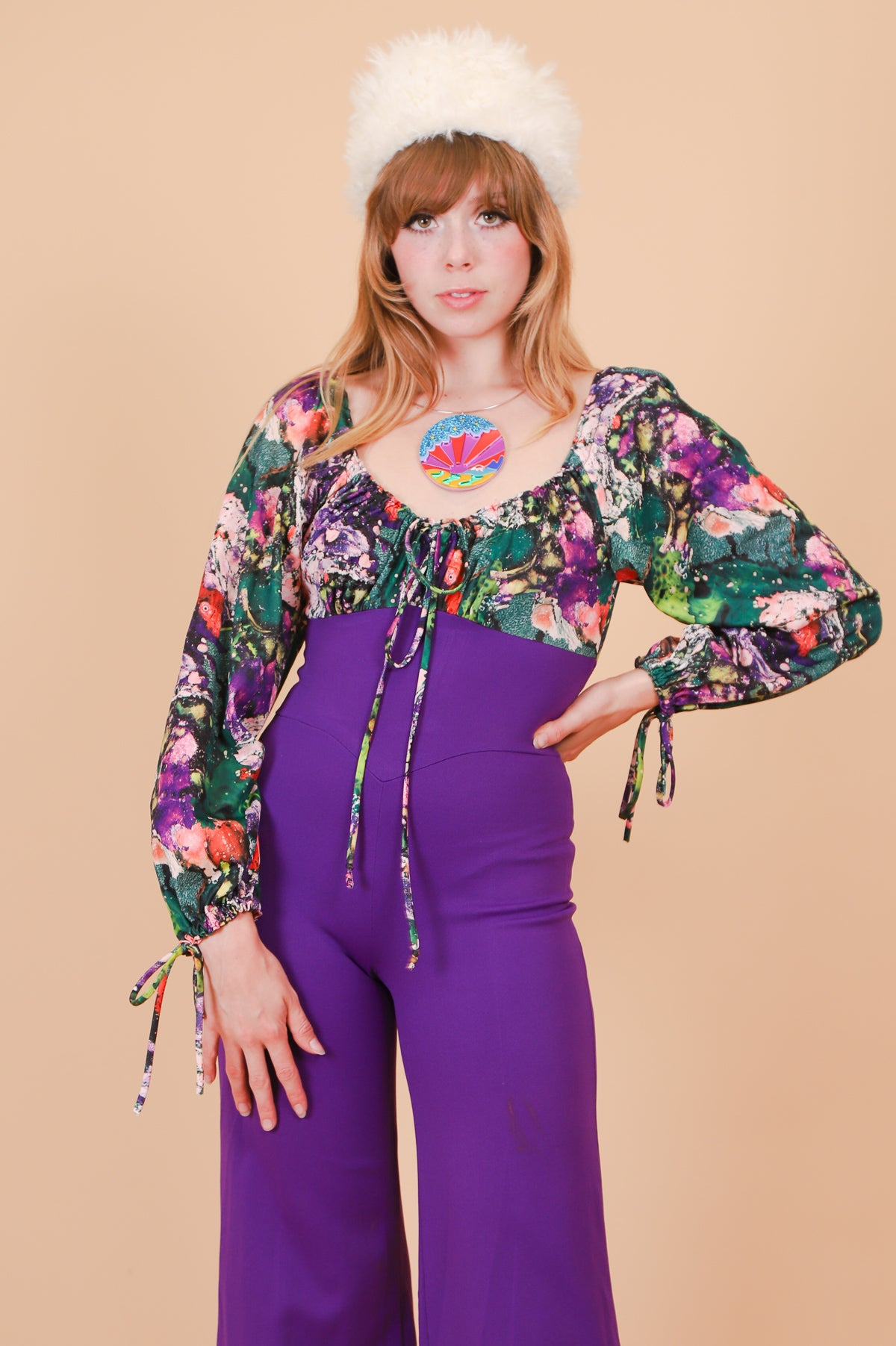 Vintage 1960's Strange Brew Purple Jumpsuit