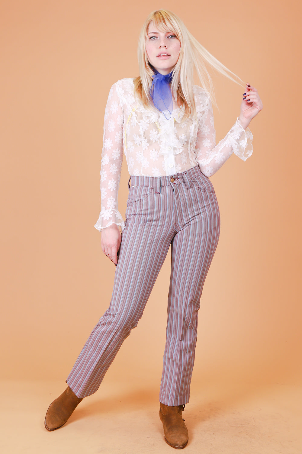 Vintage 1960's Incense and Peppermints Stripe Pants