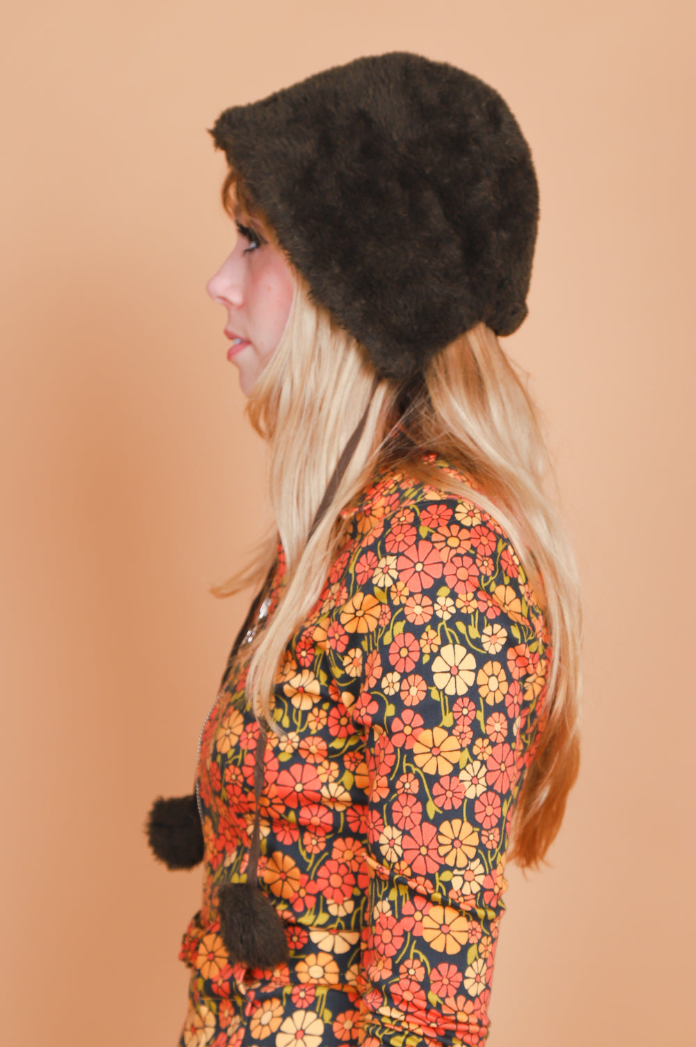 Vintage 1970's Cabin Essence Vegan Fur Hat