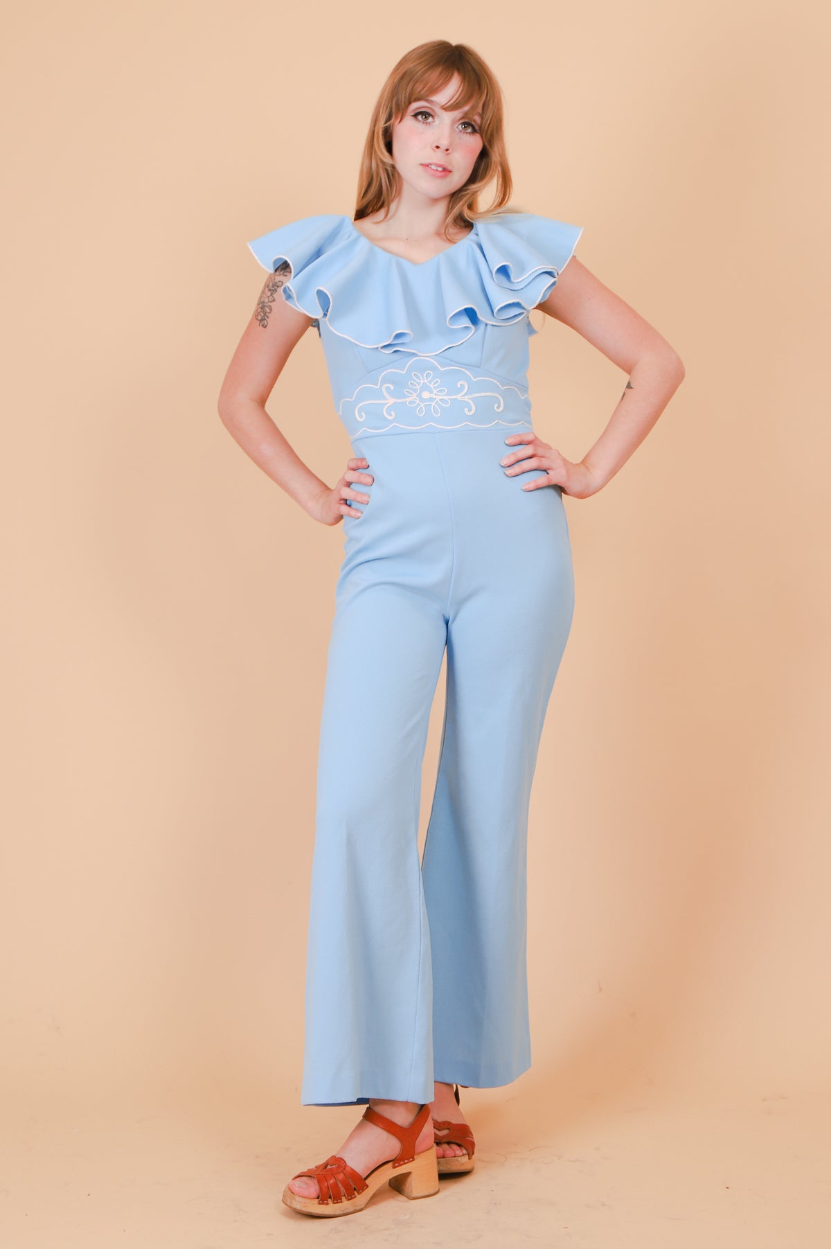 Vintage 1970's Peppermint Potion Jumpsuit