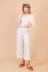 Vintage 1970's Bolan Cream Angel-Sleeve Jumpsuit