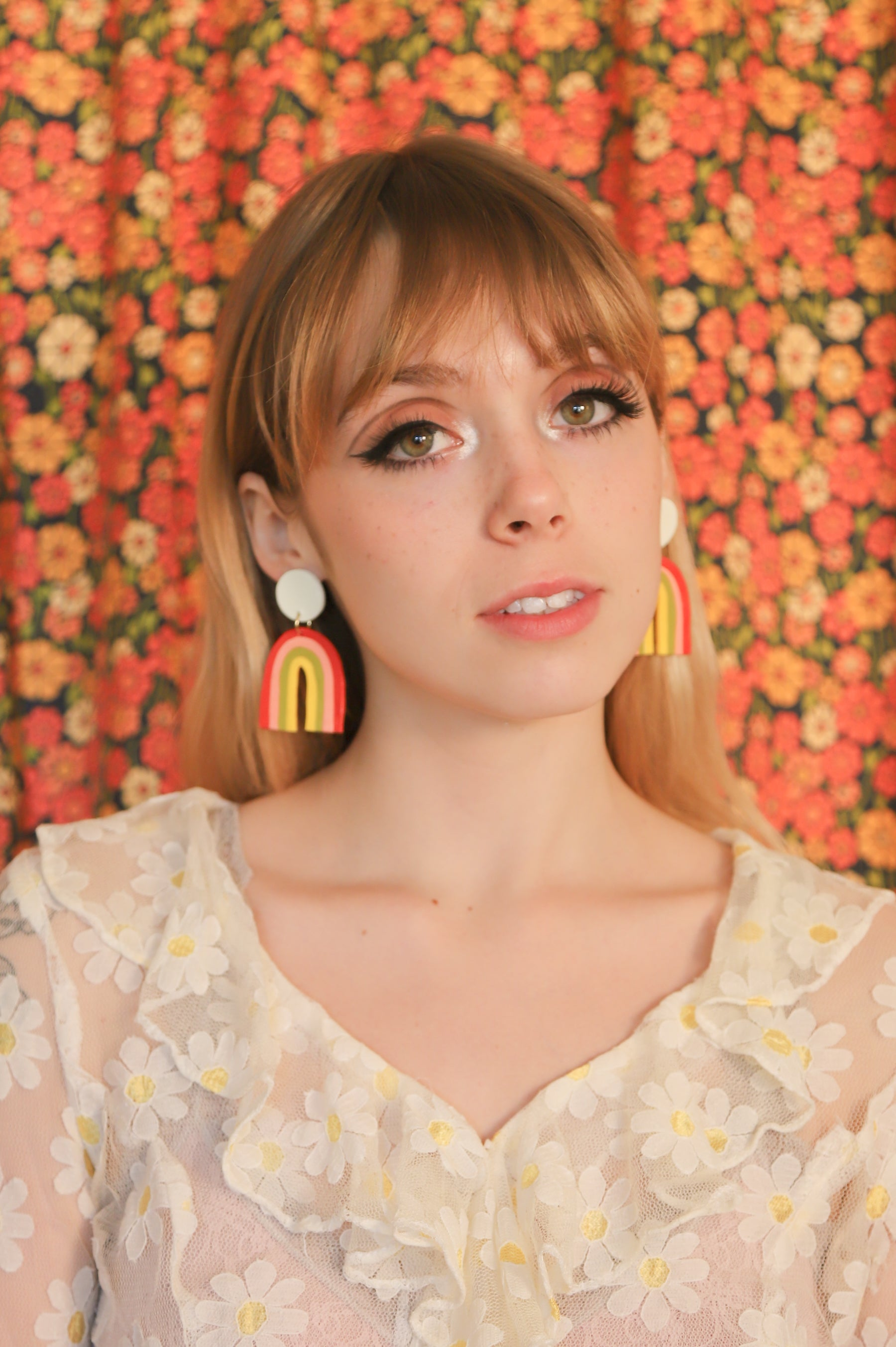 Rainbow Earrings in Sherbet