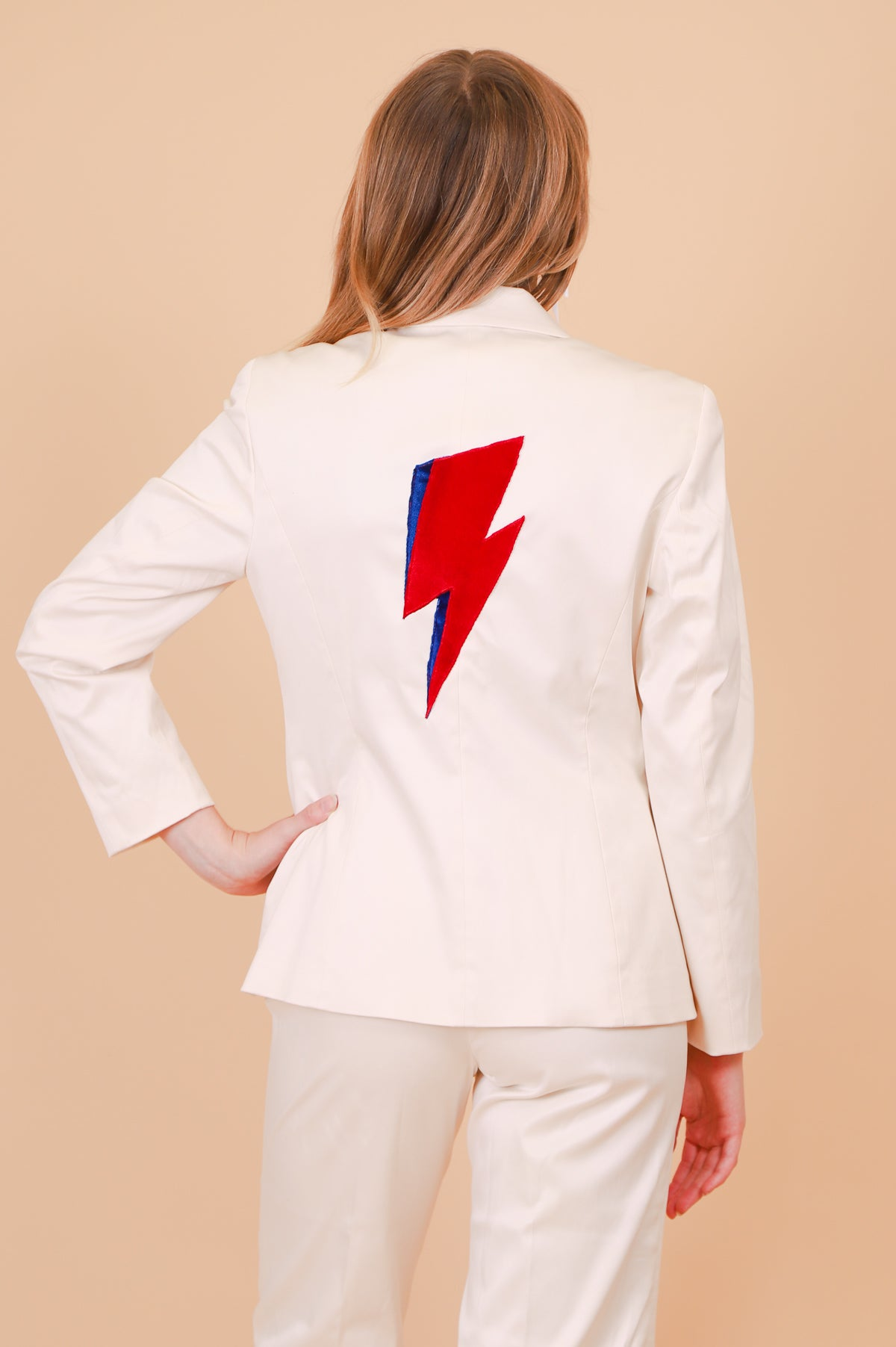 Vintage Ziggy Stardust Cream Two-Piece Suit
