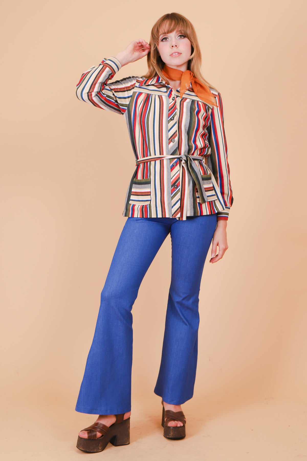Vintage 1970's Sunset Stripe Jacket