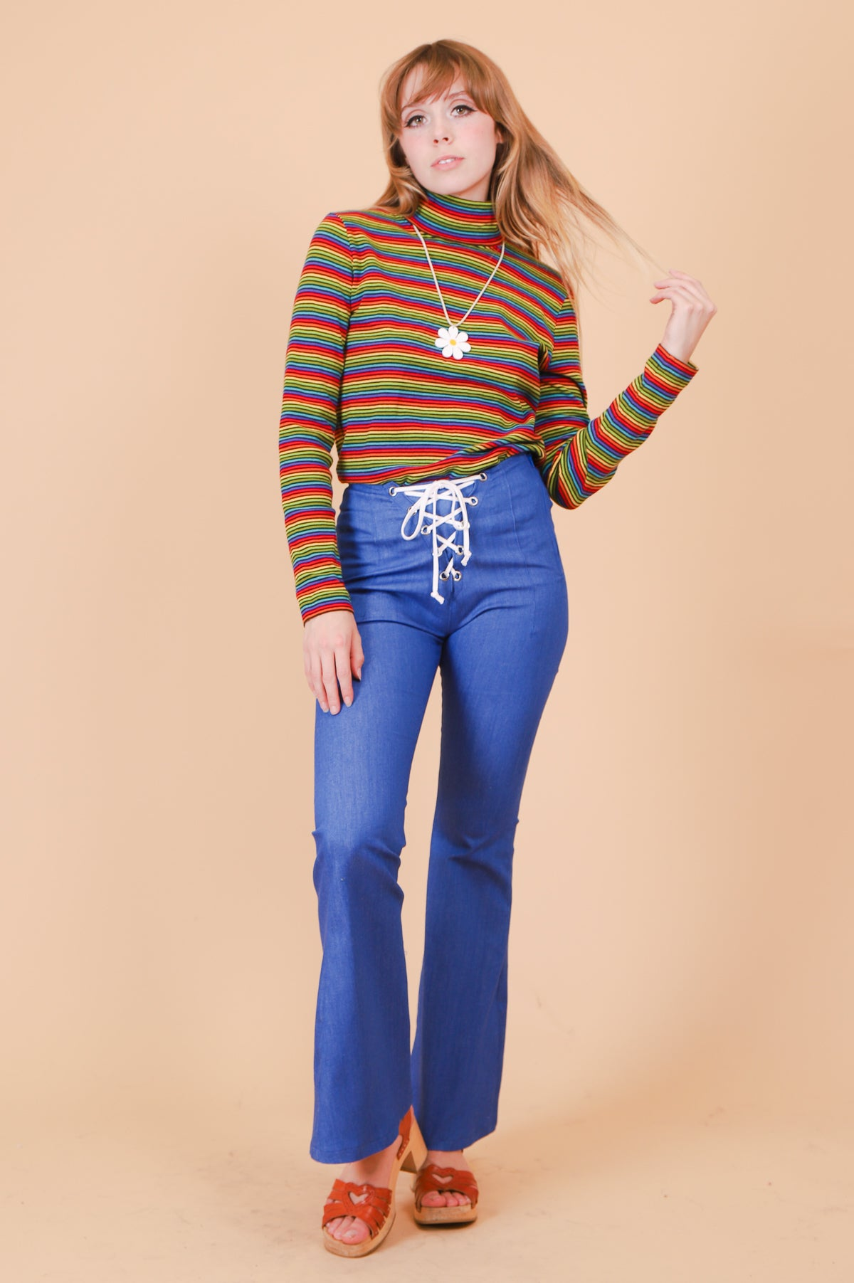 Vintage 1990's Rainbow Connection Turtleneck